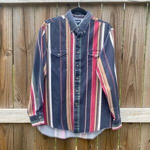 Vintage Wrangler Retro Grunge Distress Cowboy Cut  X-Long Tails 16-34 Shirt